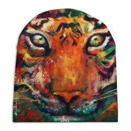 """Шапка унисекс с полной запечаткой """"Зверь"""" - арт, животные, дизайн, россия, тигр"""