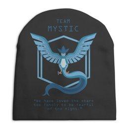 """Шапка унисекс с полной запечаткой """"Team Mystic"""" - мультфильм, pokemon, покемон, мистик, mystic"""