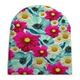 """Шапка унисекс с полной запечаткой """"Цветочный сад"""" - цветы, весна, сад, цветные, цветочки"""
