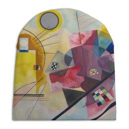 """Шапка унисекс с полной запечаткой """"Желтый, красный, синий (Василий Кандинский)"""" - картина, живопись, абстракционизм, кандинский, синий всадник"""