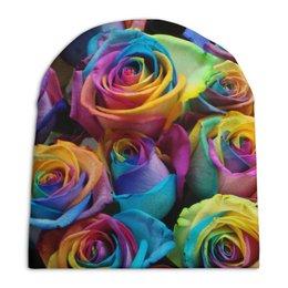 """Шапка унисекс с полной запечаткой """"Цветы Розы"""" - арт, цветы, 8 марта, розы, букет"""
