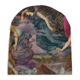 "Шапка унисекс с полной запечаткой ""Духи бури (Эвелин де Морган)"" - картина, морган"