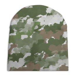 "Шапка унисекс с полной запечаткой ""Милитари"" - military, камуфляж, милитари, camouflage, армейская"