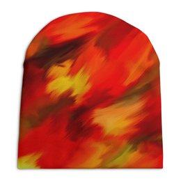 """Шапка унисекс с полной запечаткой """"Смесь красок"""" - узор, пятна, краски, абстракция, текстура"""