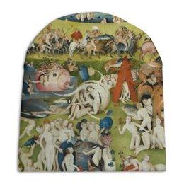 """Шапка унисекс с полной запечаткой """"Сад земных наслаждений"""" - картина, сад, искусство, босх"""