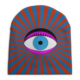 """Шапка унисекс с полной запечаткой """"Третий Глаз"""" - глаз, поп-арт, попарт, третийглаз, 3глаз"""