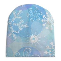 """Шапка унисекс с полной запечаткой """"Снежинка"""" - новый год, снежинки"""