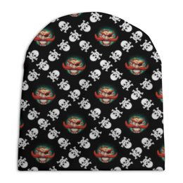 """Шапка унисекс с полной запечаткой """"Бармалей"""" - череп, черепа, пираты, пират, бармалей"""