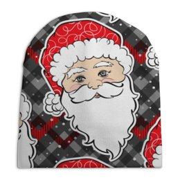 """Шапка унисекс с полной запечаткой """"дед мороз новый год"""" - новый год, дед мороз, нг"""
