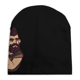 """Шапка унисекс с полной запечаткой """"Bearded / Бородач"""" - бородач, bearded"""
