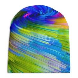 "Шапка унисекс с полной запечаткой ""Abstract Rainbow "" - радуга, цвета, краски, абстракция"