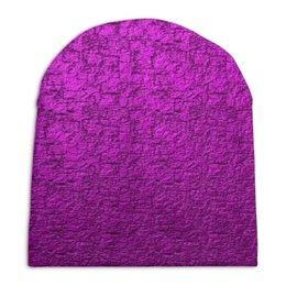 """Шапка унисекс с полной запечаткой """"рефленая текстура стена"""" - стена, рефленая, текстура ткань"""