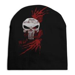"""Шапка унисекс с полной запечаткой """"Каратель. Punisher"""" - война, кровь, супергерои, мстители, оружие"""
