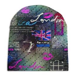 """Шапка унисекс с полной запечаткой """"Лондон"""" - стиль, мода"""