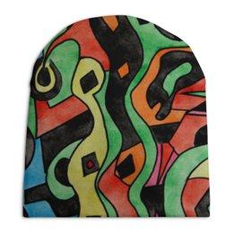 """Шапка унисекс с полной запечаткой """"g1d1d`,p1c"""" - арт, узор, абстракция, фигуры, текстура"""