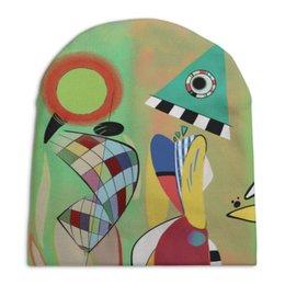 """Шапка унисекс с полной запечаткой """"Las Musas (Василий Кандинский)"""" - музы, картина, живопись, кандинский"""