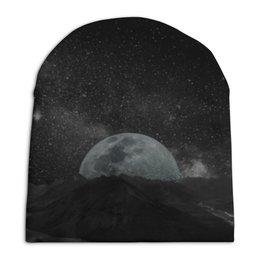 """Шапка унисекс с полной запечаткой """"Планета"""" - звезды, планета, космос, ночь, небо"""