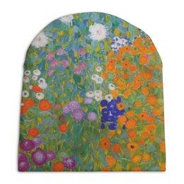 """Шапка унисекс с полной запечаткой """"Цветочный сад (Густав Климт)"""" - картина, живопись, климт"""