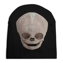"""Шапка унисекс с полной запечаткой """"Что скрывает шапка?"""" - череп, смерть"""