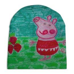 """Шапка унисекс с полной запечаткой """"Свинка"""" - свинка"""
