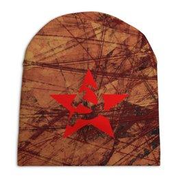 """Шапка унисекс с полной запечаткой """"Extremal Вереск"""" - звезда, ссср, победа, советский, extreme"""