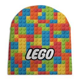 """Шапка унисекс с полной запечаткой """"LEGO  """" - lego, лего"""