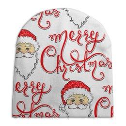 """Шапка унисекс с полной запечаткой """"дед мороз новый год"""" - новый год, дед мороз, санта, нг"""