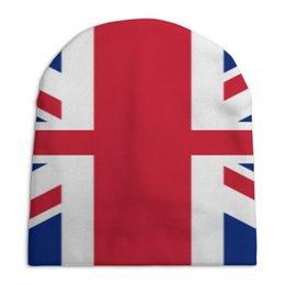 """Шапка унисекс с полной запечаткой """"Британский флаг"""" - флаг, великобритания, брекзит"""