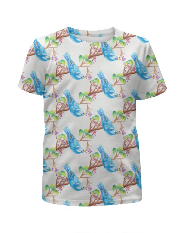 Футболка с полной запечаткой для мальчиков Printio Птички футболка с полной запечаткой для девочек printio птички