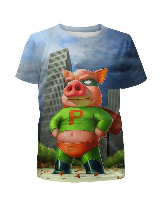 Футболка с полной запечаткой для мальчиков Printio Суперхрюша ostin футболка для мальчиков