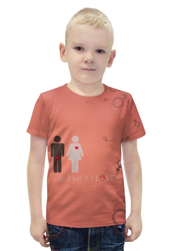 Футболка с полной запечаткой для мальчиков Printio Любовь футболка с полной запечаткой для мальчиков printio bats spawn arsb
