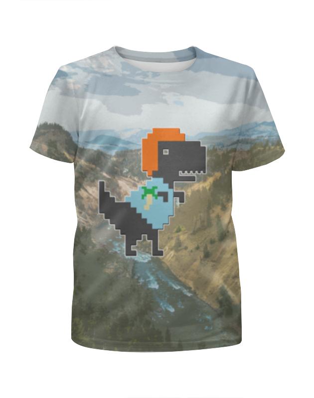 Футболка с полной запечаткой для мальчиков Printio Динозавр футболка с полной запечаткой для мальчиков printio braaaaatnsssss