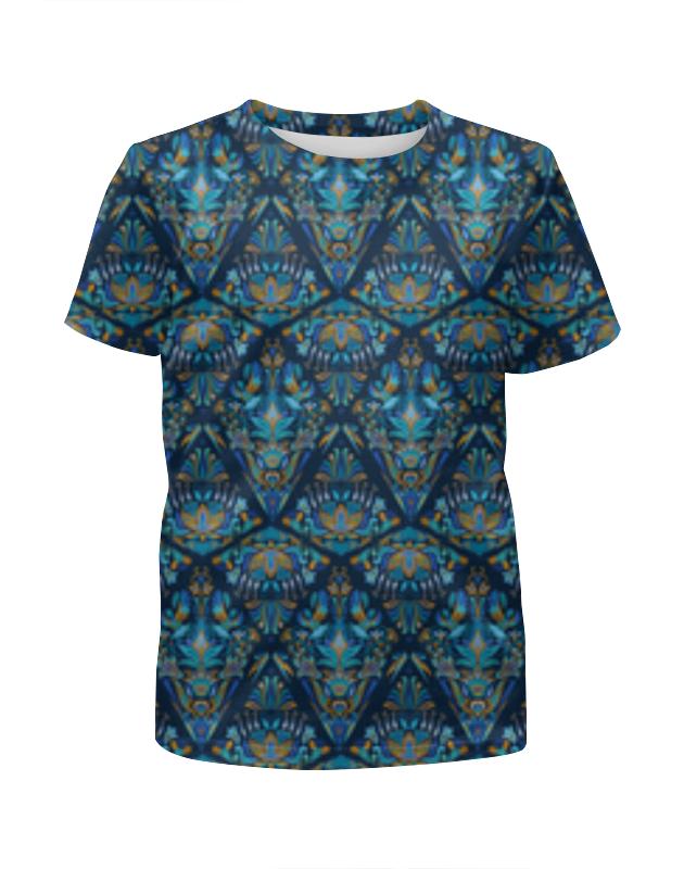 Printio Орнаментальный узор синий футболка с полной запечаткой для мальчиков printio красно синий узор