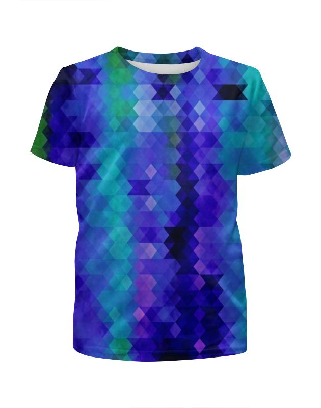 Футболка с полной запечаткой для мальчиков Printio Цветные ромбы футболка с полной запечаткой для мальчиков printio bats spawn arsb