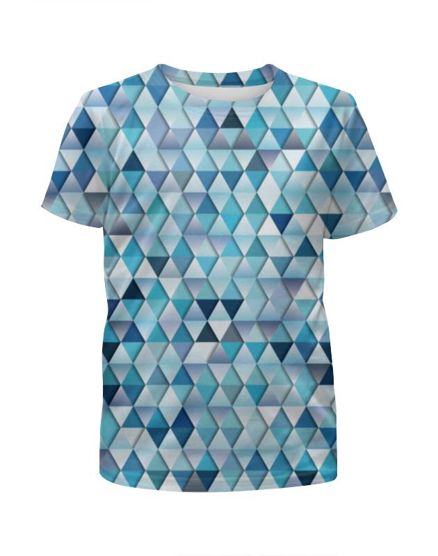 Printio Геометрический узор футболка с полной запечаткой для девочек printio геометрический узор