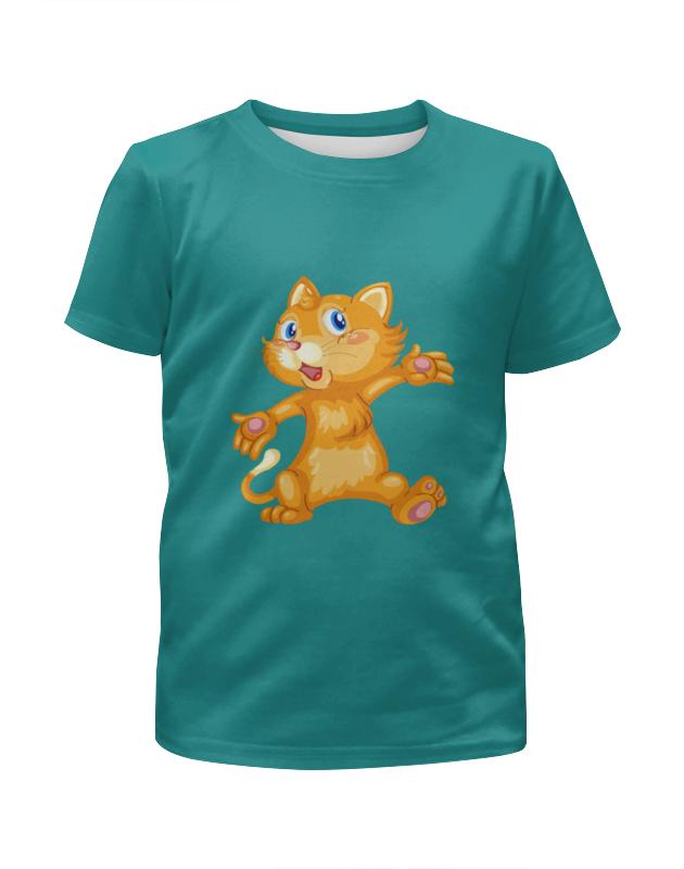 Футболка с полной запечаткой для мальчиков Printio Рыжий кот футболка с полной запечаткой для мальчиков printio bats spawn arsb