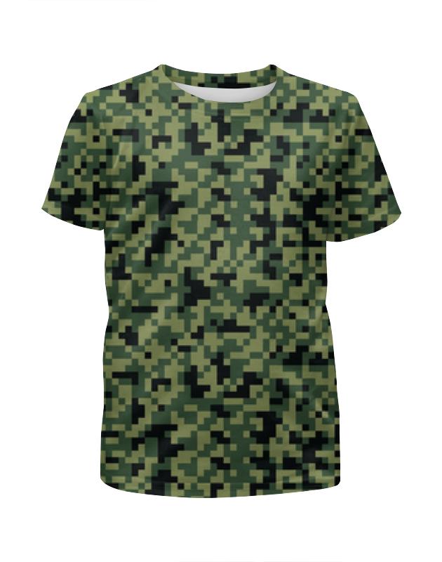 Printio Камуфляж пиксели (зеленый) футболка с полной запечаткой для мальчиков printio яркий зеленый