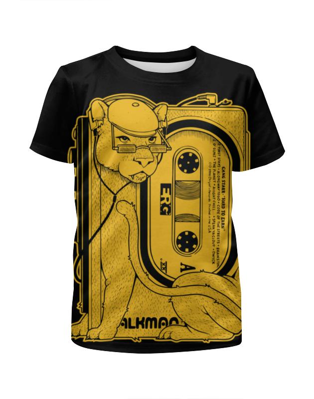 Футболка с полной запечаткой для мальчиков Printio Walkman lion lion varnish relief pu phone case for ipod touch5 6