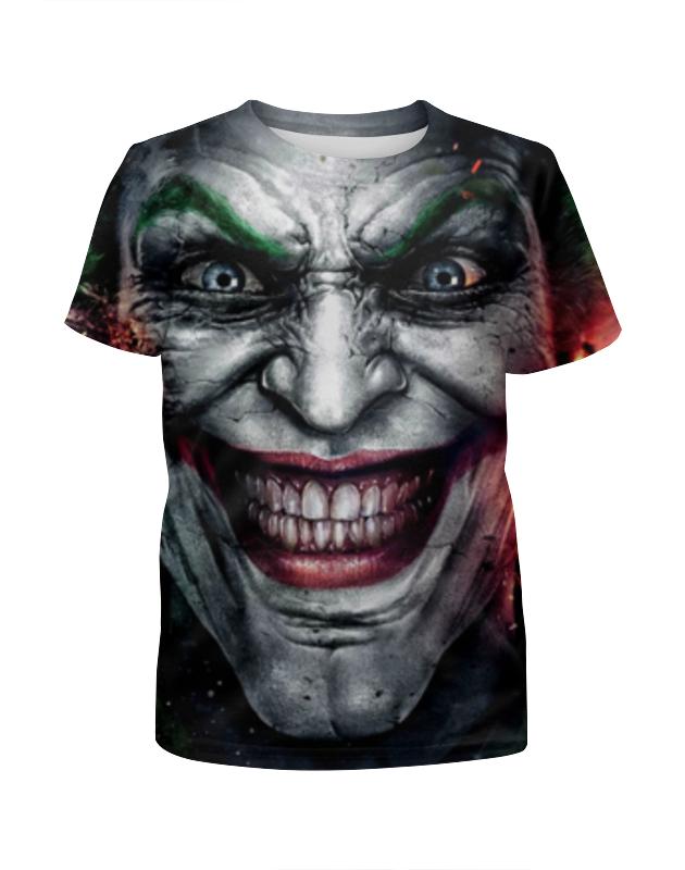 Футболка с полной запечаткой для мальчиков Printio Джокер (joker) футболка с полной запечаткой для девочек printio joker dc comics