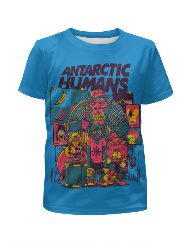 Футболка с полной запечаткой для мальчиков Printio Antarctic humans humans bow down