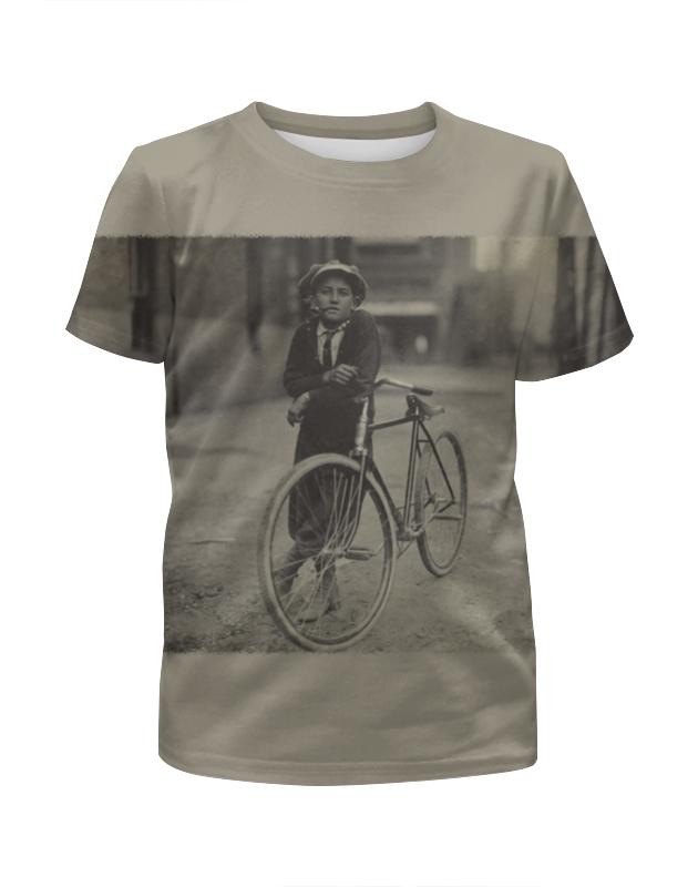 Футболка с полной запечаткой для мальчиков Printio Парень на велосипеде футболка с полной запечаткой для девочек printio свой парень