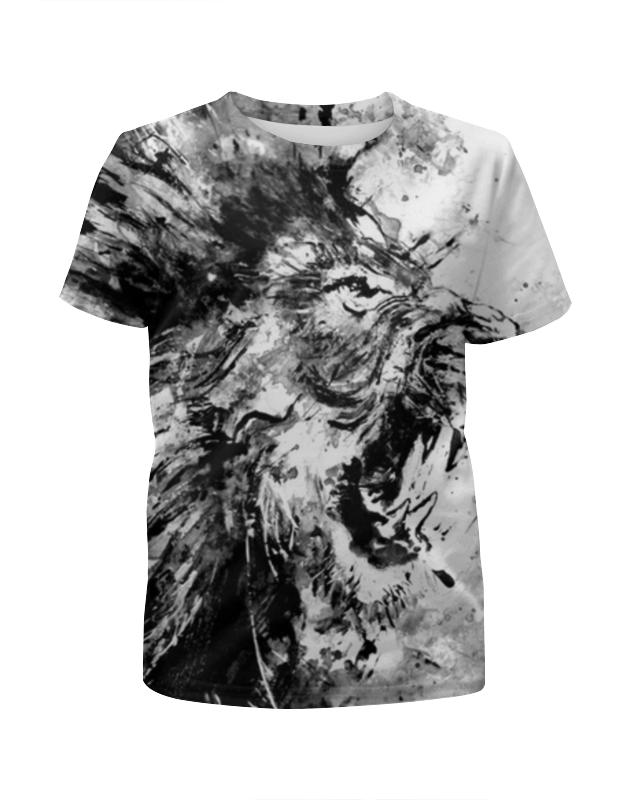 Футболка с полной запечаткой для мальчиков Printio Рычащий лев футболка с полной запечаткой для мальчиков printio кошечка
