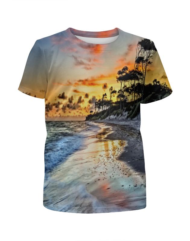 футболка с полной запечаткой для мальчиков printio остров в море Футболка с полной запечаткой для мальчиков Printio Остров