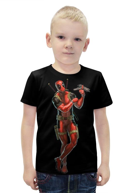 Футболка с полной запечаткой для мальчиков Printio Deadpool/дэдпул футболка с полной запечаткой для мальчиков printio bats spawn arsb
