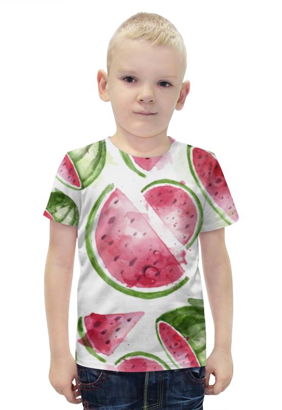 Футболка с полной запечаткой для мальчиков Printio Арбуз футболка с полной запечаткой для мальчиков printio bats spawn arsb