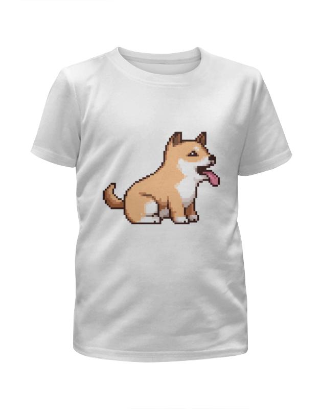 Printio Пиксельная собачка футболка с полной запечаткой для мальчиков printio собачка