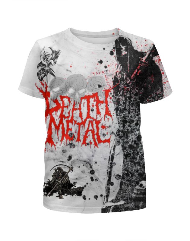 Футболка с полной запечаткой для мальчиков Printio Death metal (смерть) цена и фото