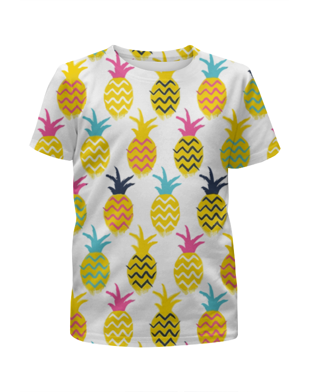 Футболка с полной запечаткой для мальчиков Printio Ананасы футболка с полной запечаткой для девочек printio ананасы