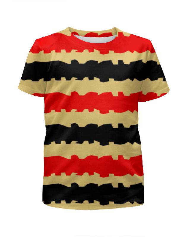 Футболка с полной запечаткой для мальчиков Printio Полоски с рванными краями футболка с полной запечаткой женская printio полоски с рванными краями