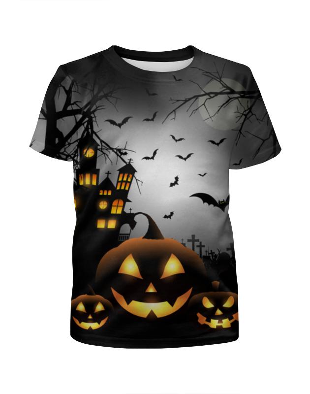 Футболка с полной запечаткой для мальчиков Printio Хэллоуинская ночь футболка с полной запечаткой для мальчиков printio ночь всех святых